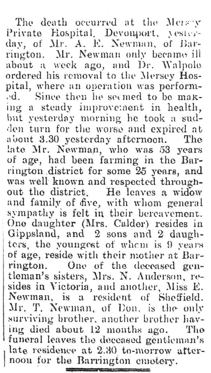 Alfred Newman's death notice