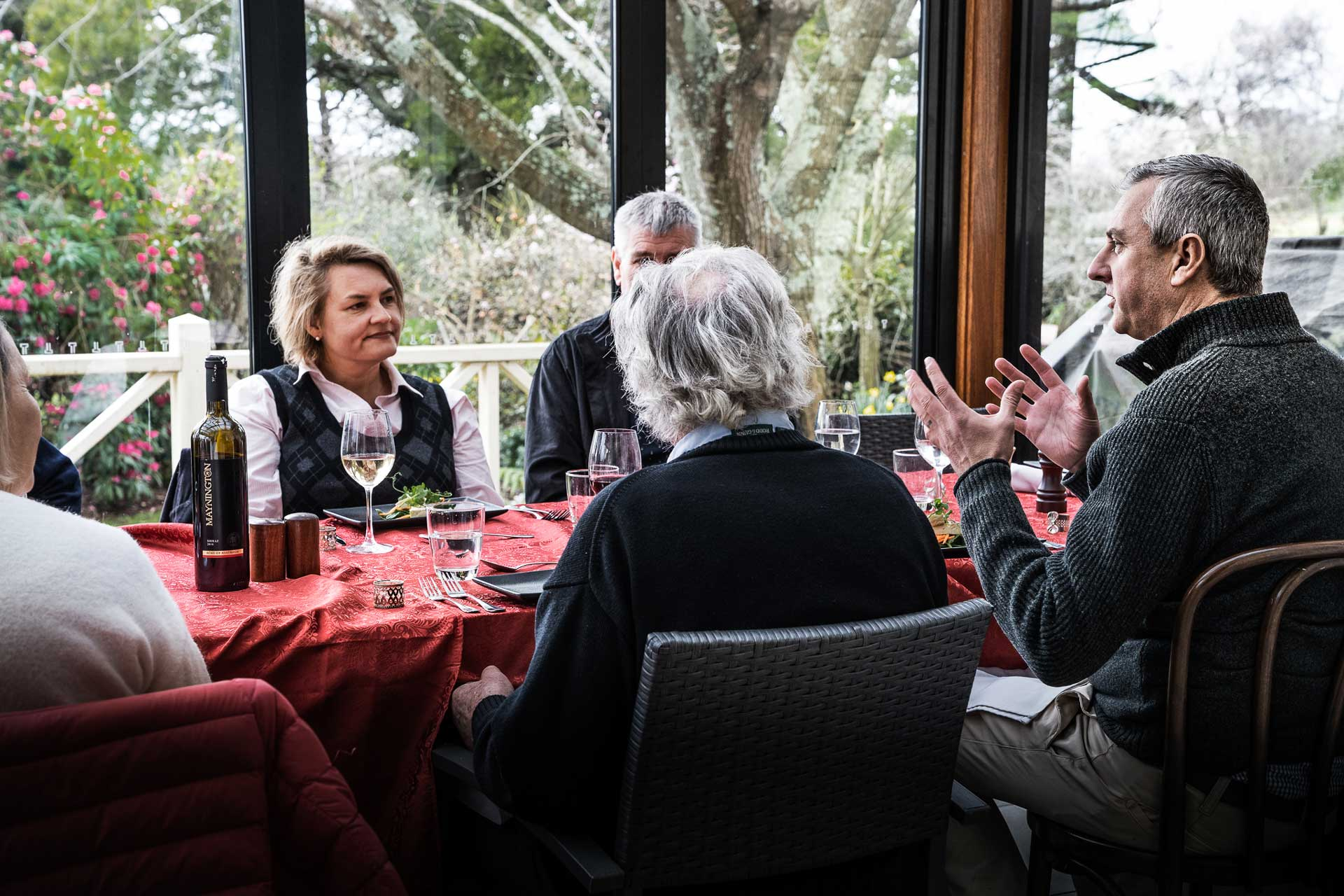 Glencoe Country B&B visitors enjoying food and wine